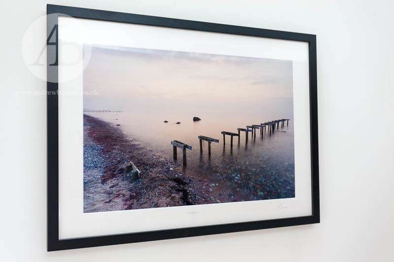 """Badebro"" (bathing bridge), or a bathing jetty, on Smidstrup Strand near Gilleleje, North Zealand,  Denmark."